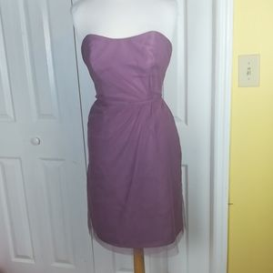 Alfred Angelo mauve strapless tulle dress